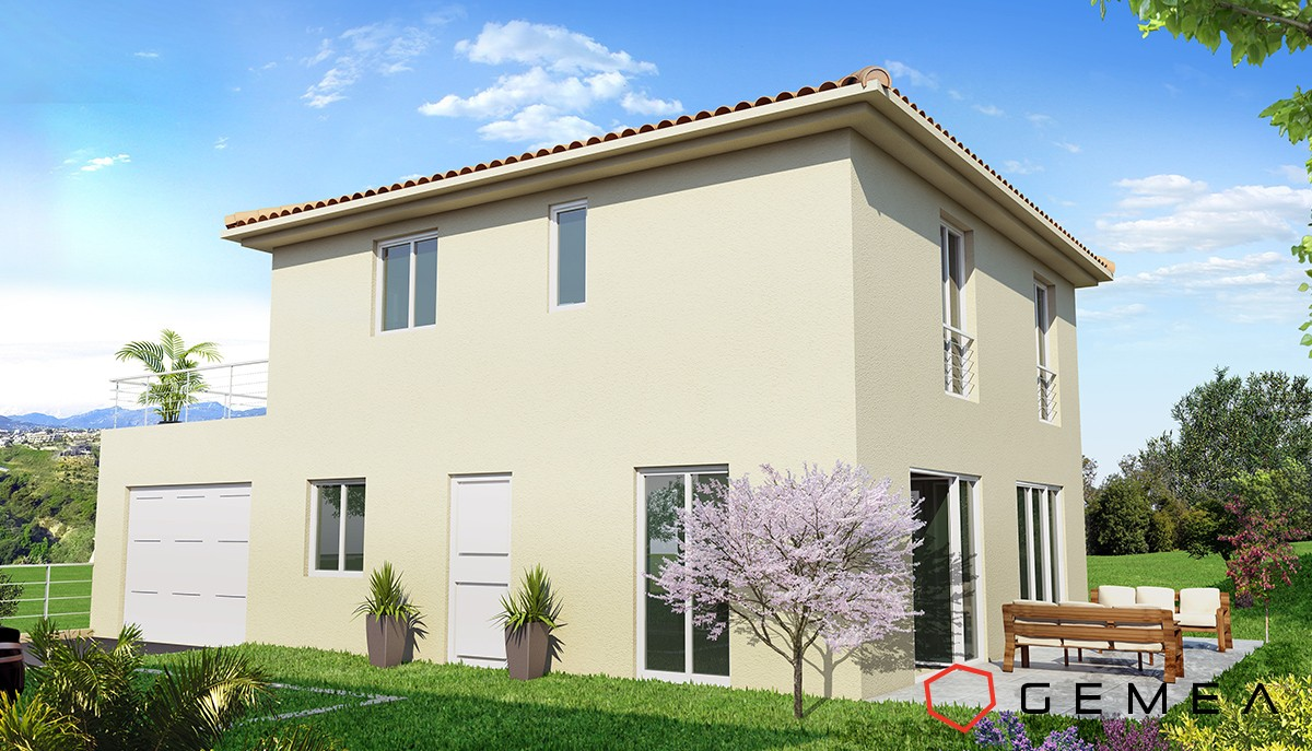 Vue 3d maison individuelle architecture 3d d tail for Creation maison 3d