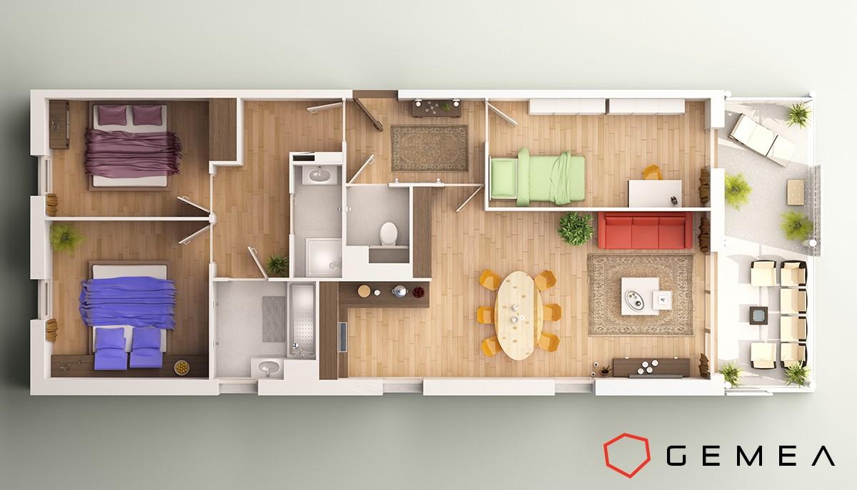 Simulation appartement 3d affordable maison inspiration for Simulation plan cuisine