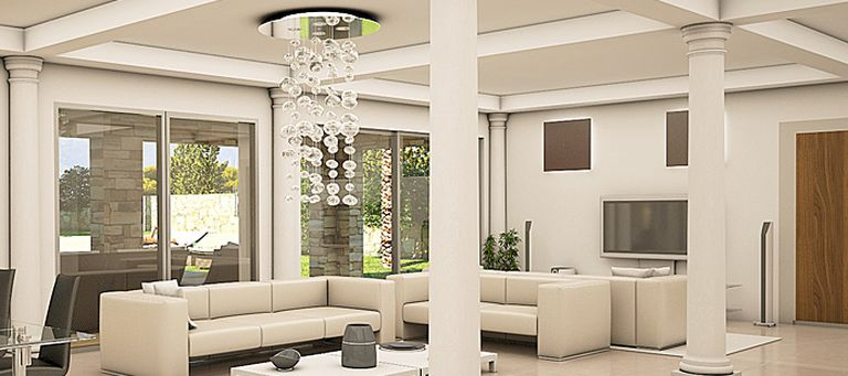 Perspective 3d int rieure r alistes for Decor villa interieur