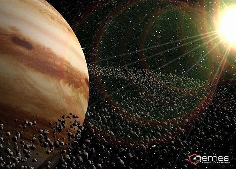 Simulation 3d video planete mod lisation 3d - Systeme solaire nice ...
