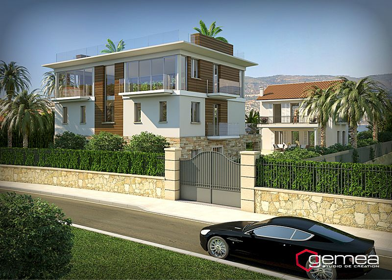 Perspective 3d villa architecture 3d d tail for Architecte 3d vue 3d