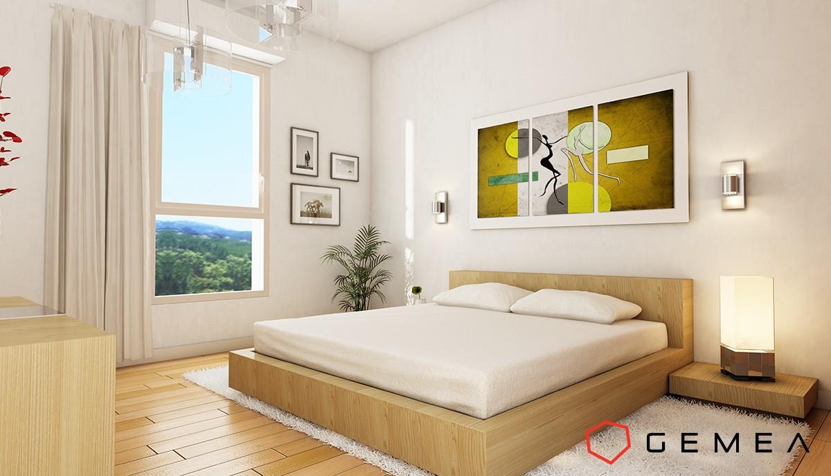 chambre-3D Décoration - Détail