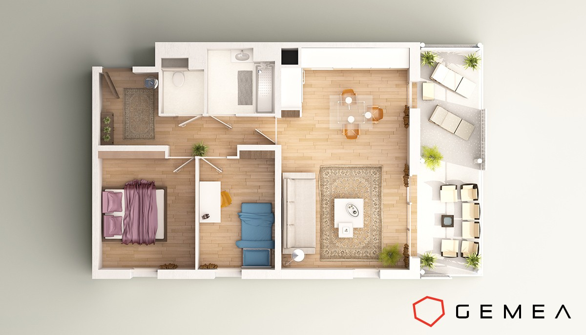 plan de masse appartement 3d 2
